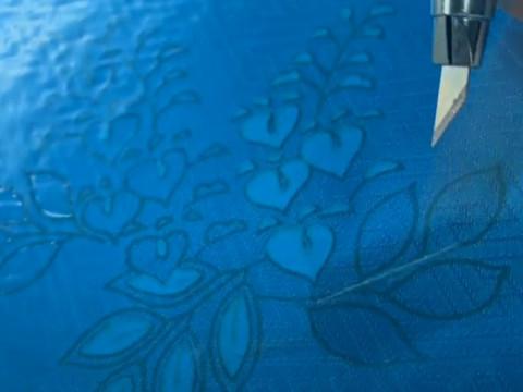 京都府 京都市中京区 【京友禅型染め体験】 ☆ 創業97年の老舗 京友禅型染め職人から学ぶ!貴重な体験・手ぶらでOK! 二条城前駅から徒歩5分