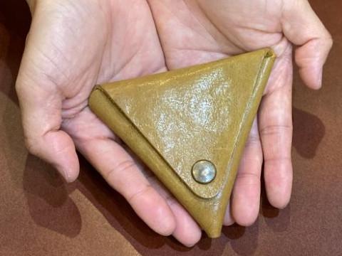 奈良県 奈良市 【レザークラフト体験】 ☆ 三角形のコインケース作り・針を使わないのでお子様(10歳以上)にもオススメ♪