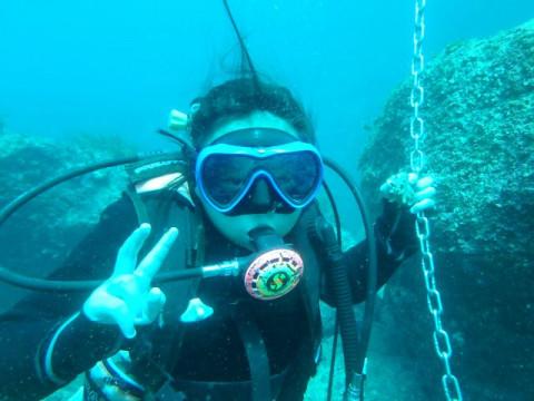 大阪市 梅田出発 【体験ダイビング】 ☆ ボートで行く体験ダイビング(1ダイブ)・透明度抜群の日本海でダイナミックな地形や魚群を楽しもう!