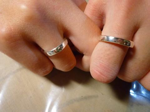 大阪市 東住吉区 【シルバーアクセサリー制作】 ☆ 結婚式の指輪交換や披露宴のサプライズに「マリッジリングコース」