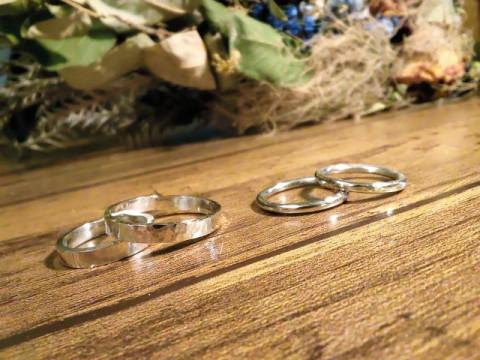 大阪市 中央区 【シルバーリング作り(丸)】 ☆ ペアリングやプレゼントに純銀素材の作り指輪を!心斎橋駅から徒歩約3分・当日お持ち帰りOK♪