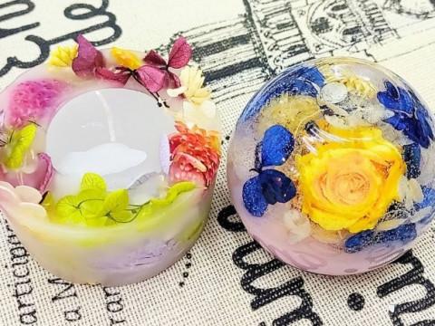 兵庫県 淡路島 【キャンドル制作体験】 ☆ お花いっぱいの可愛い「フレグランスジェルキャンドル」と「ボタニカルキャンドル」を作りましょう!