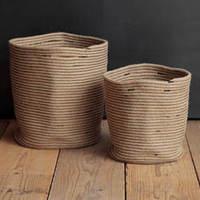 ナチュラルな鉢カバーRib Basket(リブバスケット)は 通販で!おすすめ3選もご紹介