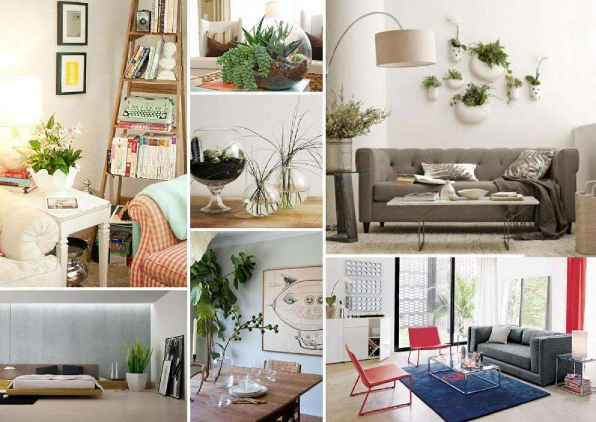 Modern living space decorating with houseplants ideas indoor artificial garden