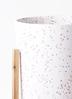 鉢カバー  ホルスト シリンダー 6号鉢用 スパークルホワイト ウッドポットスタンド付き #KONTON HO-R01P09V 2枚目