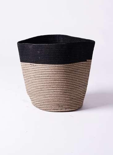 鉢カバー Rib Basket(リブバスケット) 10号鉢用 Natural and Black