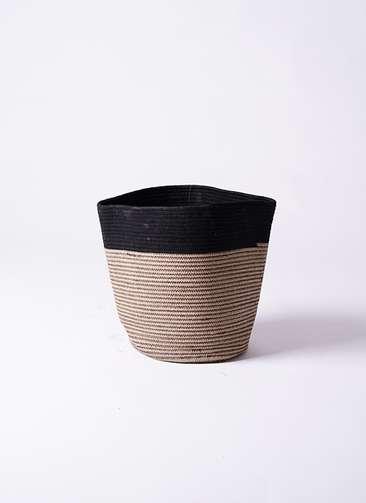 鉢カバー Rib Basket(リブバスケット) 6号鉢用 Natural and Black
