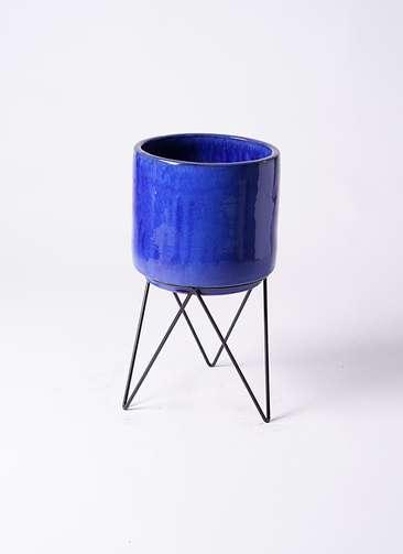 鉢カバー ビトロ エンデカ 鉢カバースタンド付 8号鉢用 ブルー