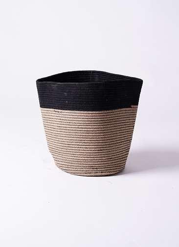 鉢カバー Rib Basket(リブバスケット) 8号鉢用 Natural and Black