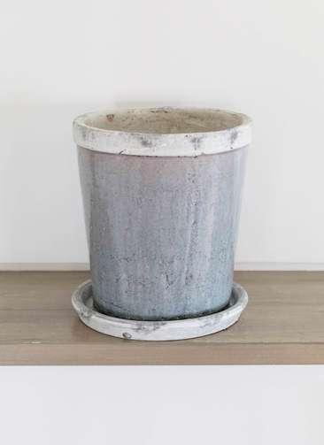 鉢カバー Antique Terra Cotta(アンティークテラコッタ) 6号鉢用 Gray
