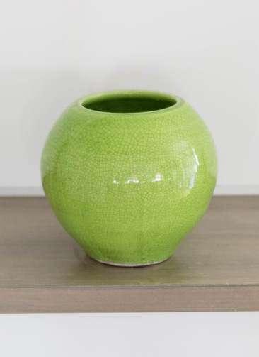 鉢カバー Antique Terra Cotta(アンティークテラコッタ) 3号鉢用 Green