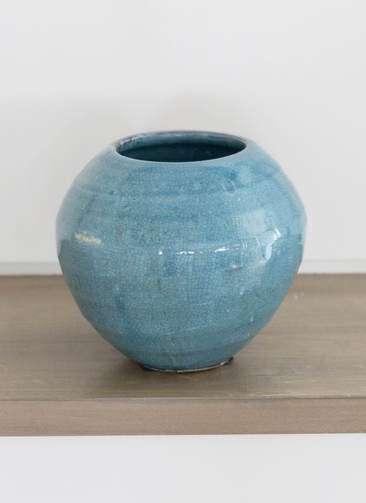 鉢カバー Antique Terra Cotta(アンティークテラコッタ) 3号鉢用 Blue