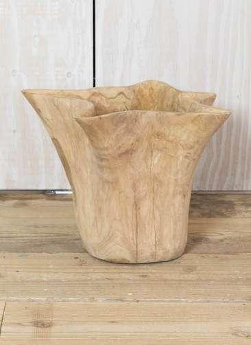 鉢カバー Carving Pot(カービングポット) 8号鉢用 Natural