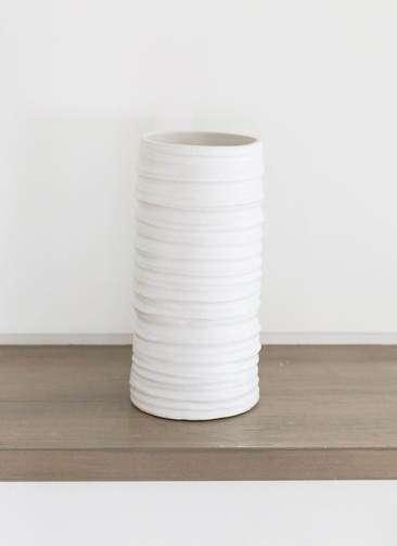 鉢カバー Color Crack(カラークラック) 3号鉢用 Mat White
