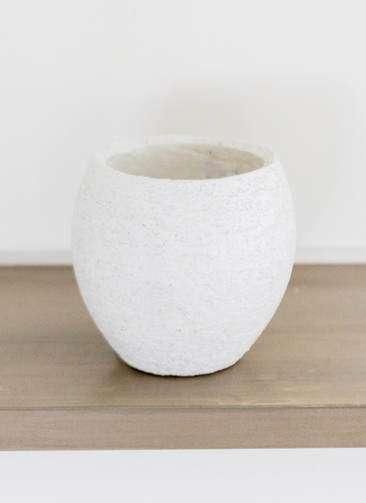 鉢カバー Eco Stone(エコストーン) 3号鉢用 white