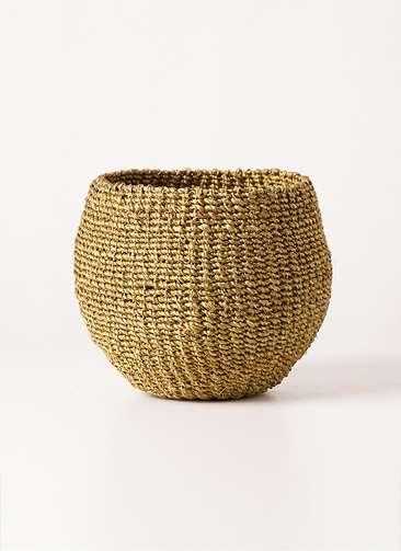 鉢カバー Abaca Basket(アバカバスケット) オリーブ 4号
