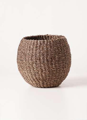 鉢カバー Abaca Basket(アバカバスケット) スモーク 4号