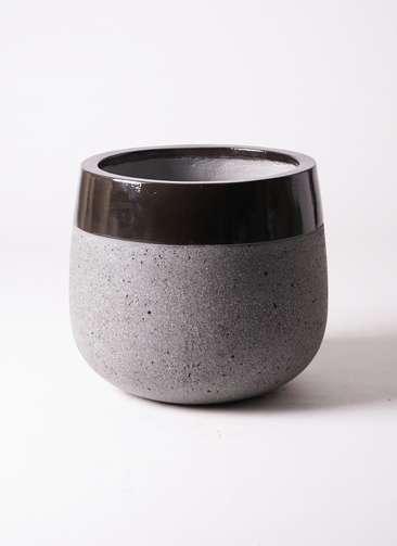 鉢カバー ファイバーストーン タウルス ミドル 8号鉢用 黒
