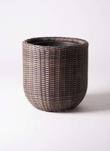鉢カバー ウィッカーポット エッグ NT 8号鉢用 茶