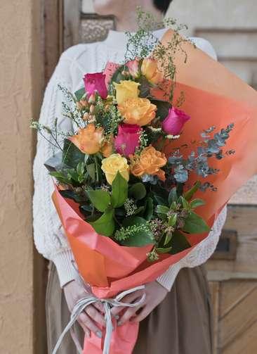 バラ 花束 ミックス M