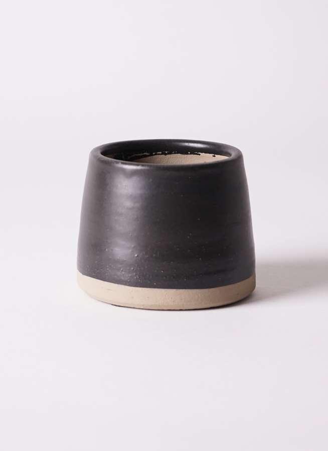 鉢カバー Color Crack C7317 black 3号鉢用