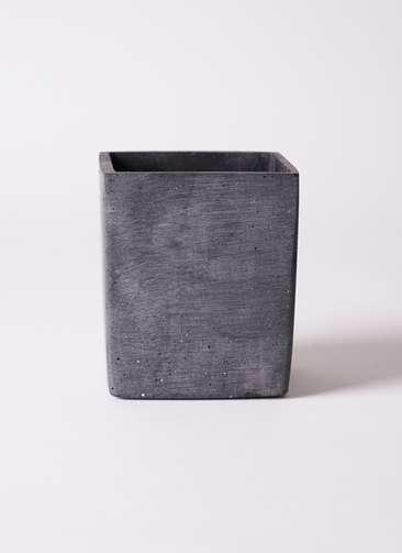 鉢カバー ポリストーン キューブ S ブラック
