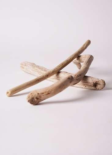 鉢カバー 流木 ロング 3本