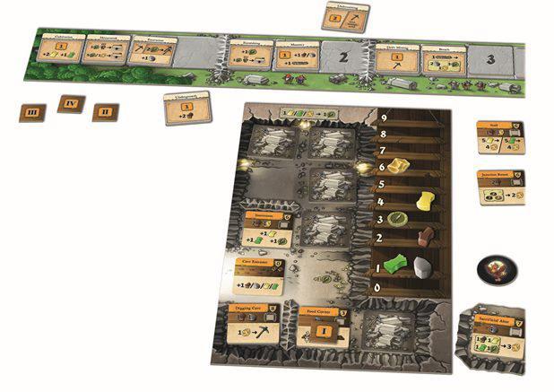 ゲーム紹介『カヴェルナ:洞窟対決 (Caverna: Cave vs Cave)』:ゲームの準備