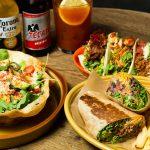 フレッシュ野菜もたくさん摂れる、ベジーでボリューミーなメキシカン