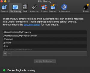 docker desktop for macアプリでディレクトリを共有する