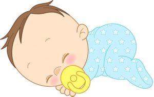 寝てる赤ちゃんイラスト