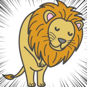 見送りをするライオン