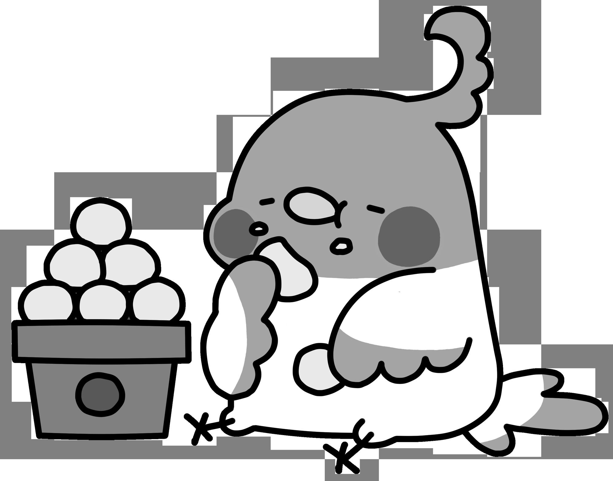 保育のおたよりに使える!10月のfine!無料イラスト集②(モノクロ