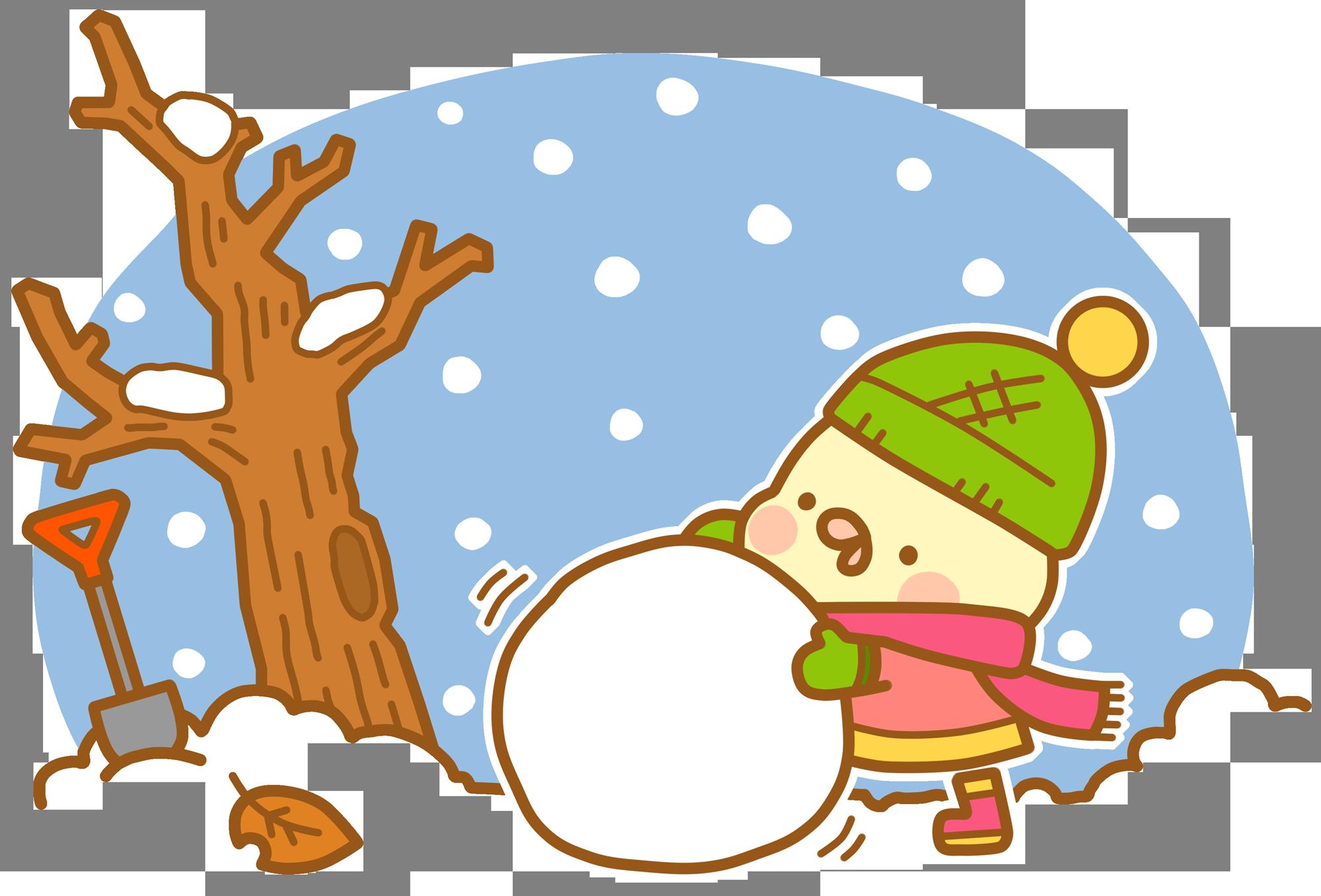 おたよりに使える12月のfine保育士 無料イラスト集ファインコ編