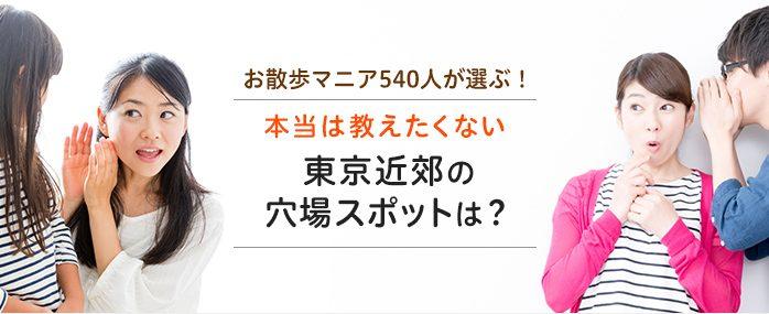 お散歩マニア540人が選ぶ!本当は教えたくない東京近郊の穴場スポットは?