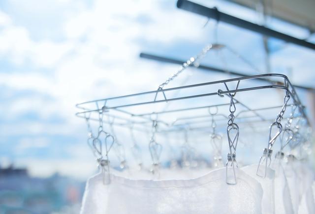 洗濯物を屋外に干せる