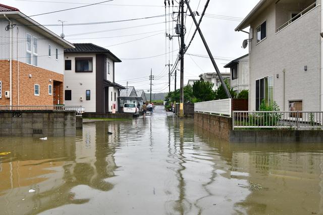 洪水ハザードマップの見方