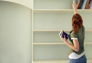 壁面収納は、音漏れ対策のひとつ