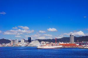 神戸の港から見た景色