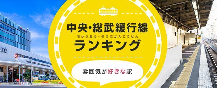 2017年JR中央・総武緩行線の雰囲気が好きな駅ランキング
