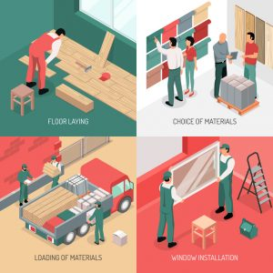 Isometric Renovation Design Concept