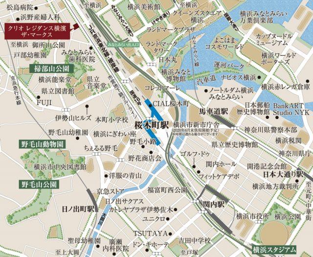 クリオレジダンス横濱ザ・マークス_地図