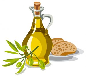 oil olive with bread