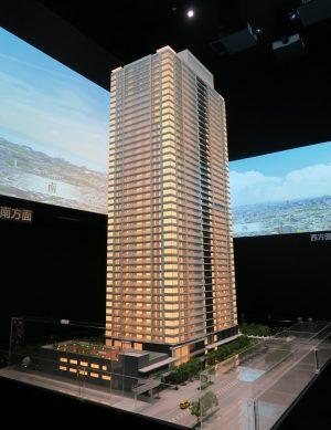 津田沼ザ・タワーの模型と眺望