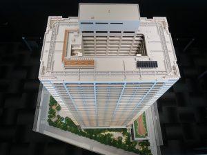 津田沼ザ・タワーの建物模型(上部から)