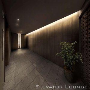 ベルレジェンド川崎MIYABIテラスのエレベーターラウンジ