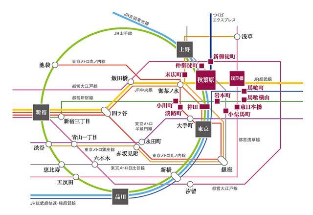 グレーシア千代田秋葉原の交通アクセス図