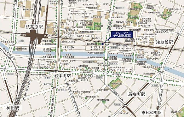 グレーシア千代田秋葉原の周辺地図