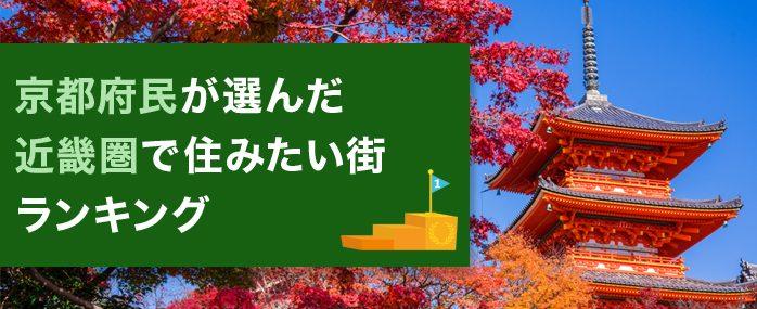 京都府民が選んだ 近畿圏で住みたい街ランキング