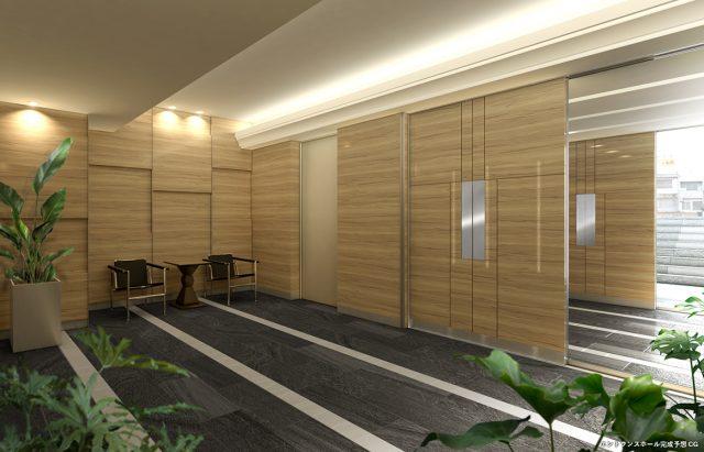 ⑤ヴェレーナ横浜反町駅前のエントランスホール完成予想図